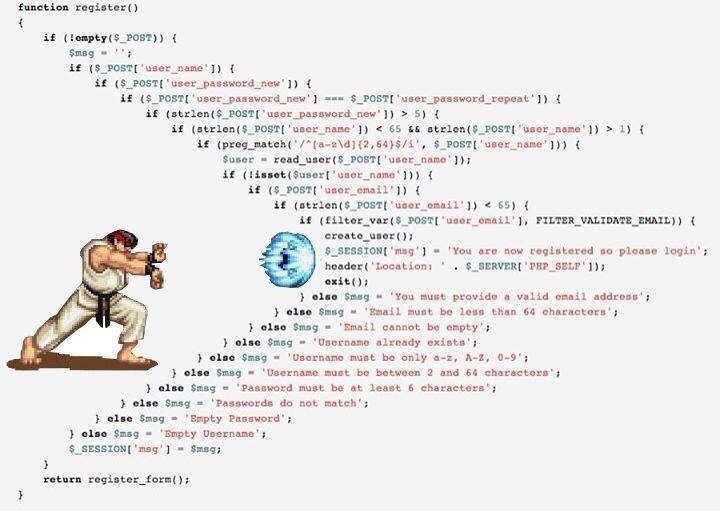 Indentation Hadouken