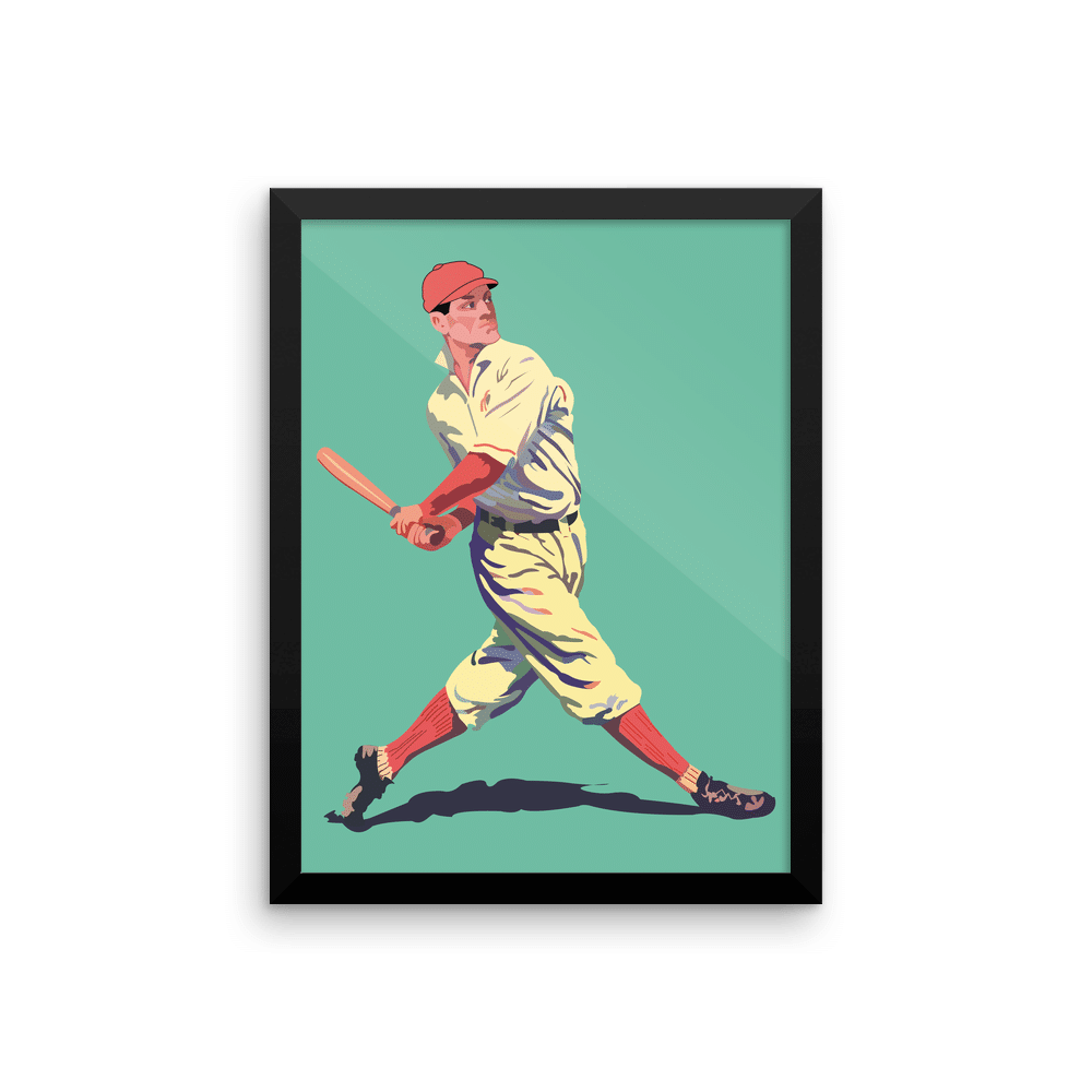 Retro Baseball Poster