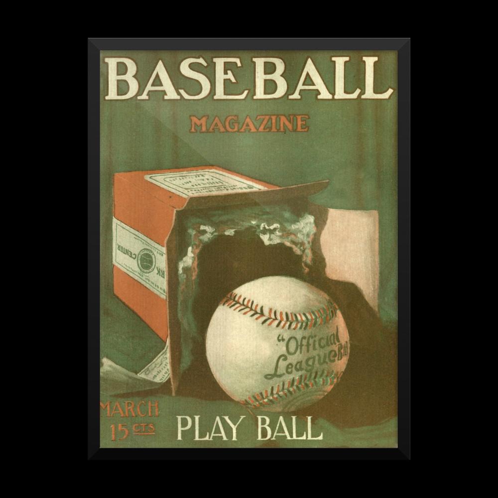 Baseball Play Ball Poster