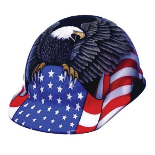 Honeywell American Flag Hard Hat Standard Brim