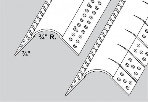 10 ft Trim-Tex Bullnose Corner Bead w/ 3/4 in Radius