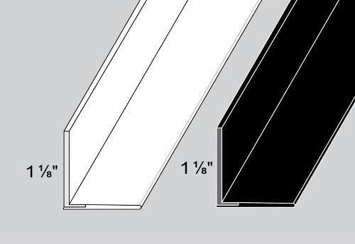 7/8 in x 8 ft Trim-Tex Flex Grid Angle - White