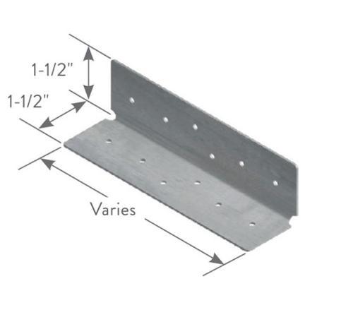 1 1/2 in x 1 1/2 in x 5 1/2 in x 16 Gauge ClarkDietrich SwiftClip LS-Series Clips