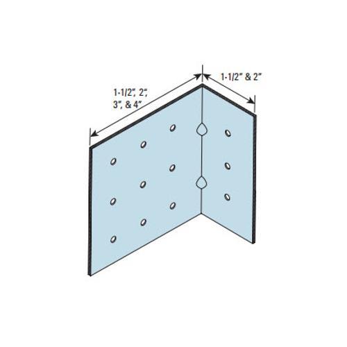1 1/2 in x 3 in x 5 1/4 in x 14 Gauge Marino\WARE FrameRite Utility Clip