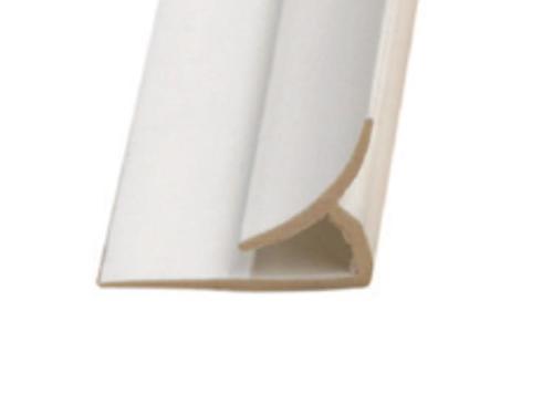 10 ft Marlite FRP PVC Inside Corner - Ivory