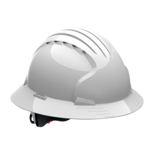 PIP Evolution Deluxe 6161 Standard Brim Hard Hat - White