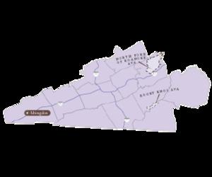 Detail map blue ridge