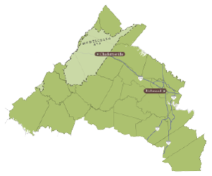 Detail map central virginia