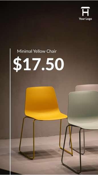 Minimal Yellow Chair