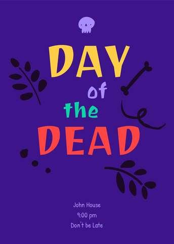 Dia de Muertos-Invitation 1