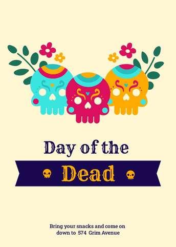 Dia de Muertos-Invitation 2