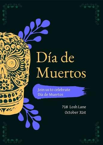 Dia de Muertos-Invitation 3