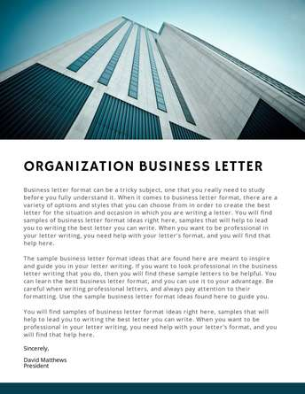 Organization Business Letter