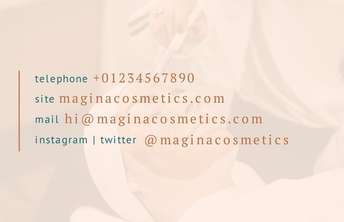 Magina Cosmetics Business Card