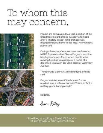 May Concern