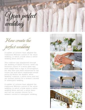 Your Perfect Wedding
