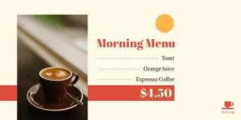 Morning menu