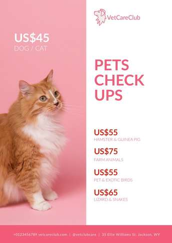 VetCareClub Price List A4