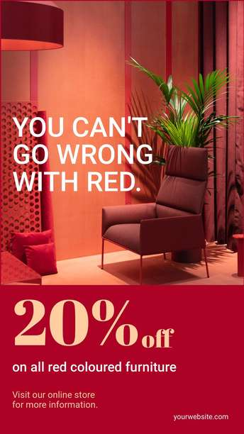 Red Coloured Furniture