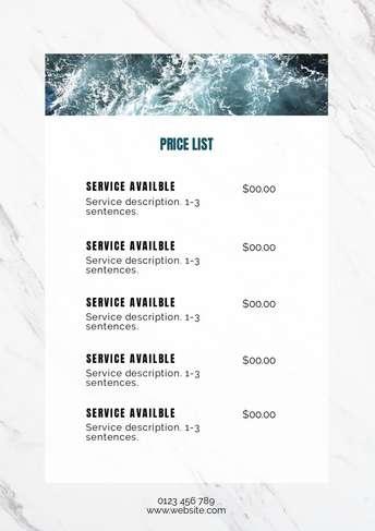 pricelist-ocean