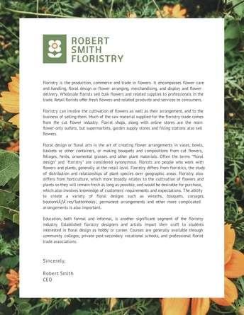 Robert Smith Floristry