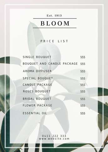 pricelist-bloom