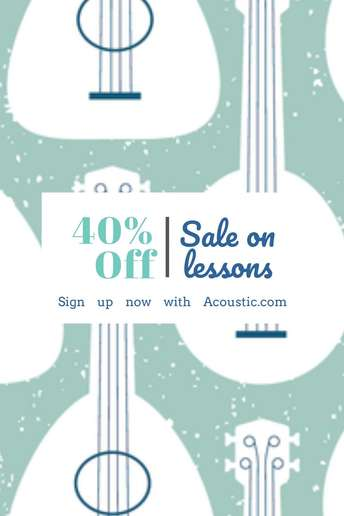 Sale on lessons
