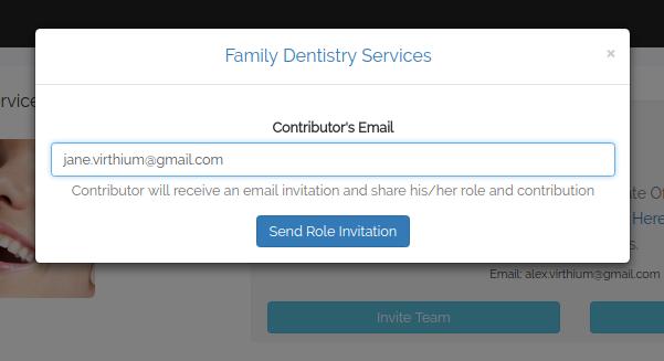 virthium invite team button