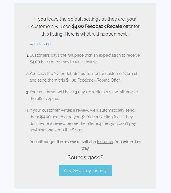 virthium listing feedback rebate