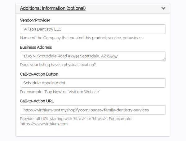 virthium listing additional info
