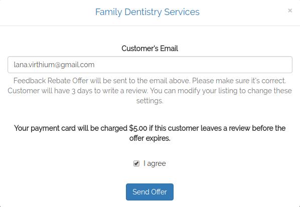 virthium send feedback rebate offer