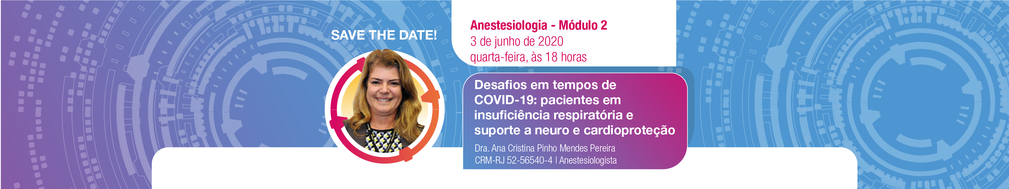 Aulas-banners-Módulo 2 Anestesiologia save the date