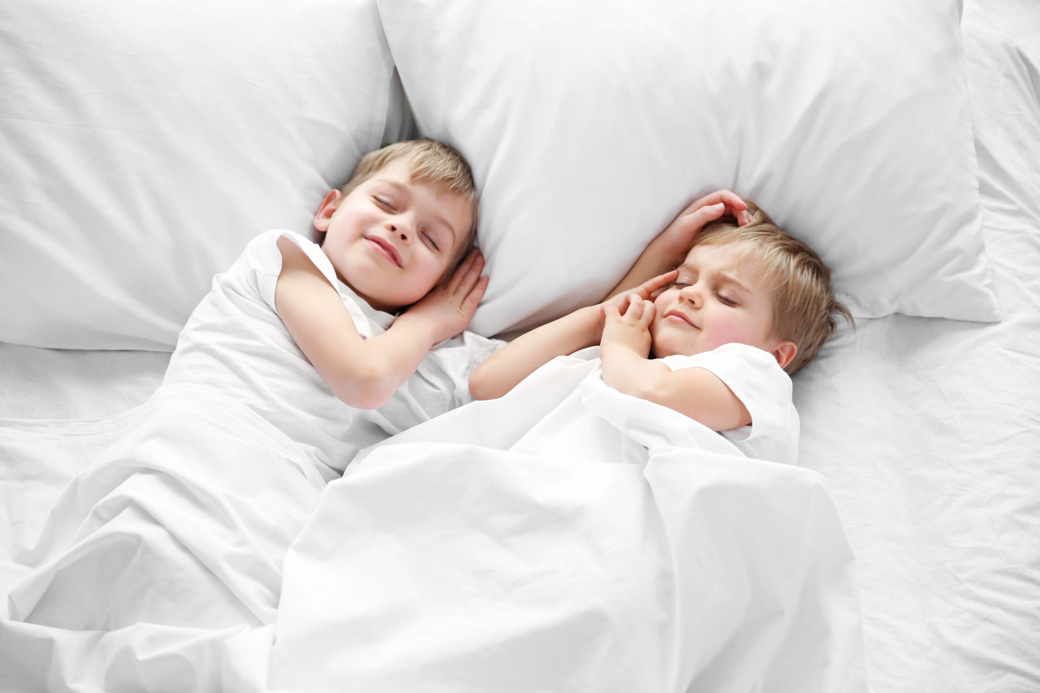 Kids Sleeping in Bedroom