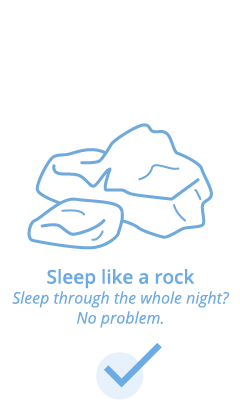 Sleep like a rock