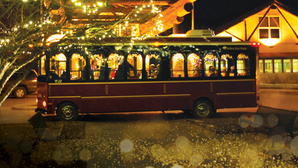 Trolley lights holiday