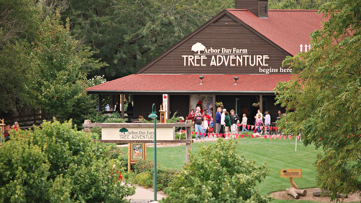Arbor day farm tree adventure entrance %281%29