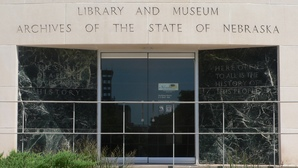 Nebraska state historical society bldg s entrance 1
