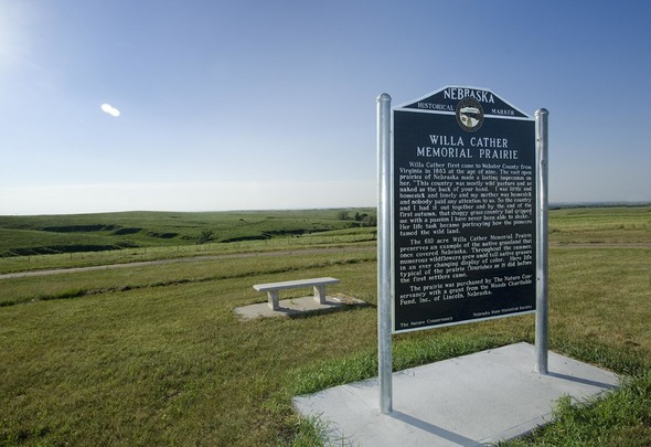 Willa Cather Memorial Prairie - Willa cather us map
