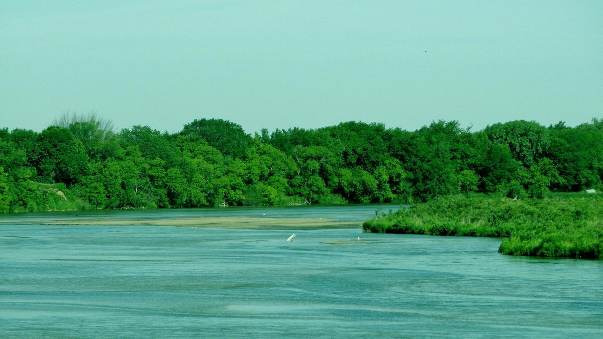 Green scenes of the north loup river
