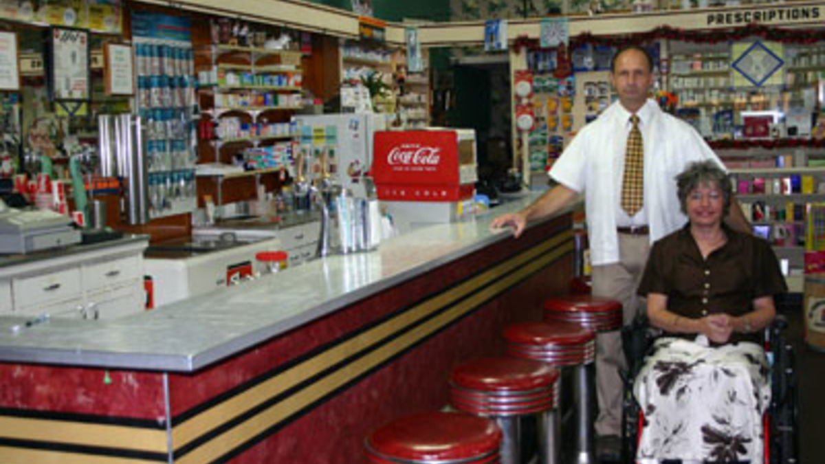 arapahoe pharmacy old fashioned soda fountain