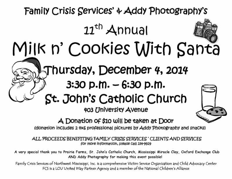 Milk N Cookies With Santa Visit Oxford Ms