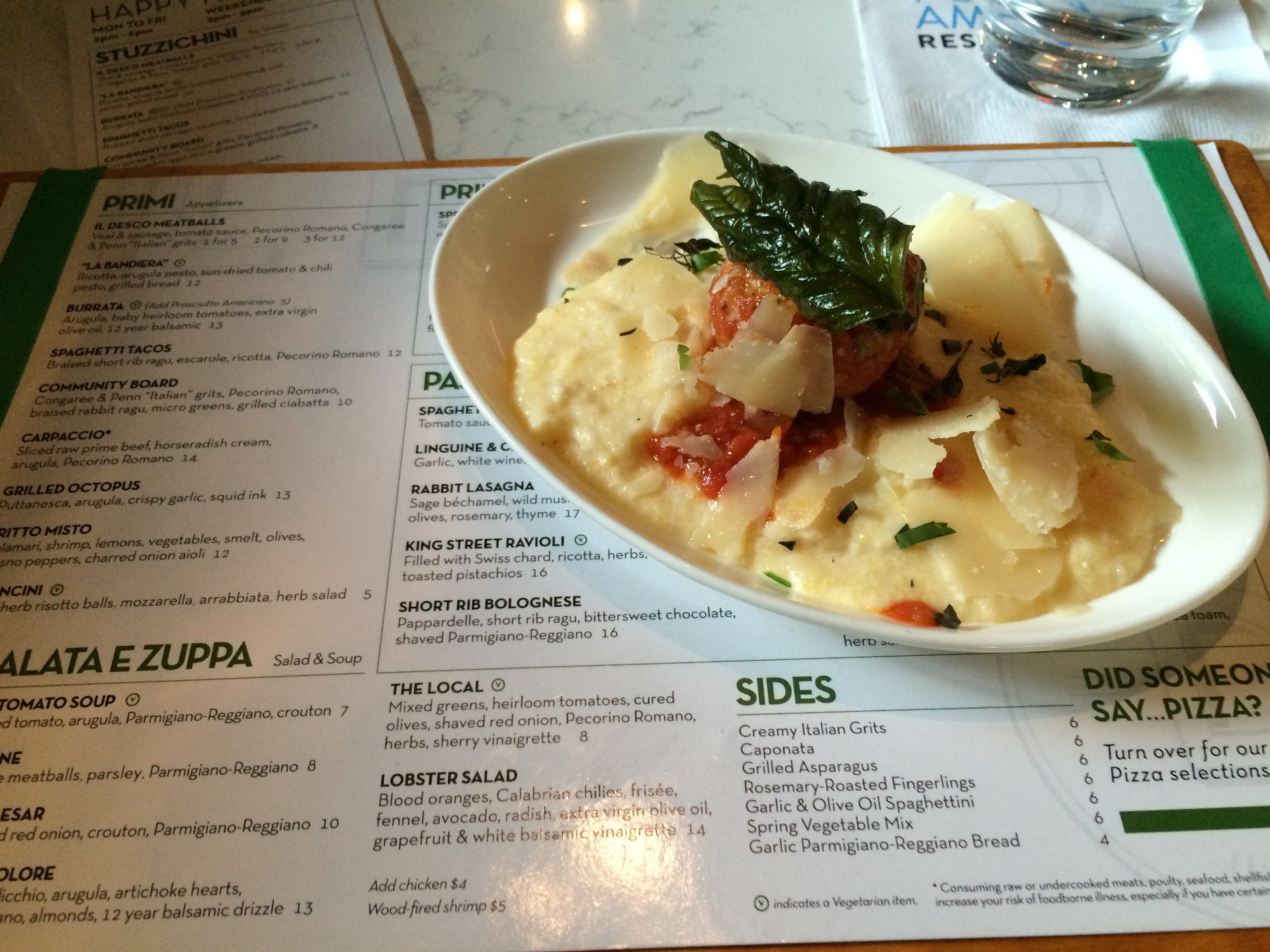 A dish of Italian food at Il Desco in Jacksonville, Florida