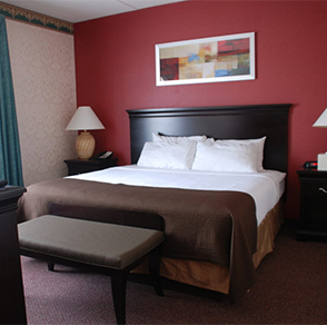 plaza, hotel, suites, winona, minnesota, room, king, queen, bed, stay, book