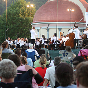 winona, minnesota, symphony, orchestra, free, concert, on, the, green, lake, park, bandshell, playground