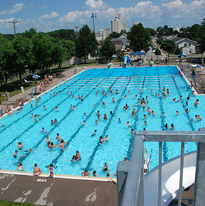 winona, minnesota, bob, welch, aquatic, center, swimming, pool, kiddie, diving, slide