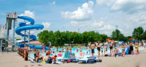 winona, minnesota, bob, welch, aquatic, center, swimming, pool, kiddie, diving, slide
