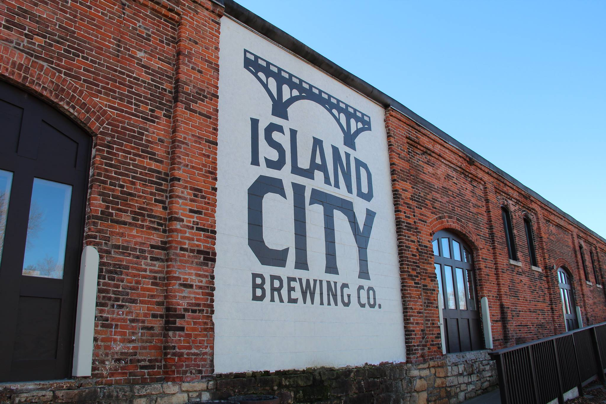 island, city, brewery, winona, minnesota