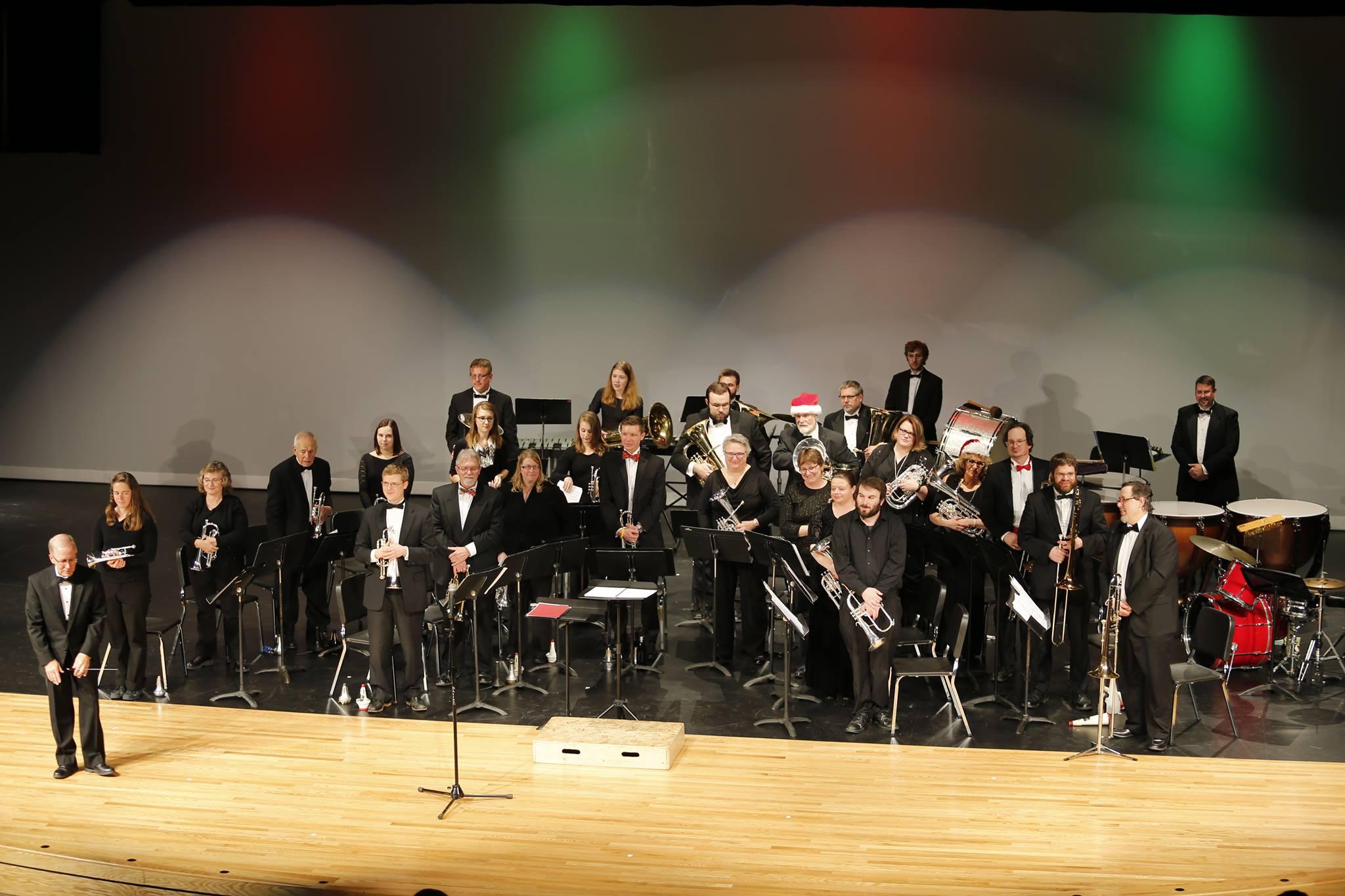 christmas, brass, band, concert, winona, minnesota, instrument, performance
