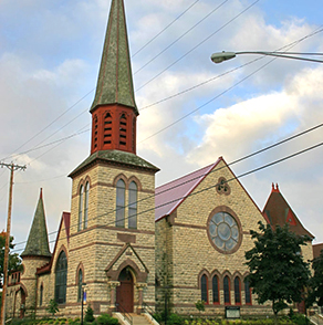 winona, minnesota, first, congregational, church, stained, glass, tour