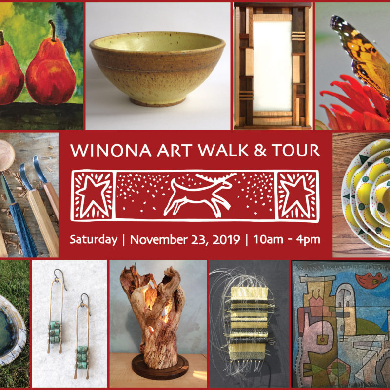Winona Art Walk Artist Sale Downtown Winona Minnesota